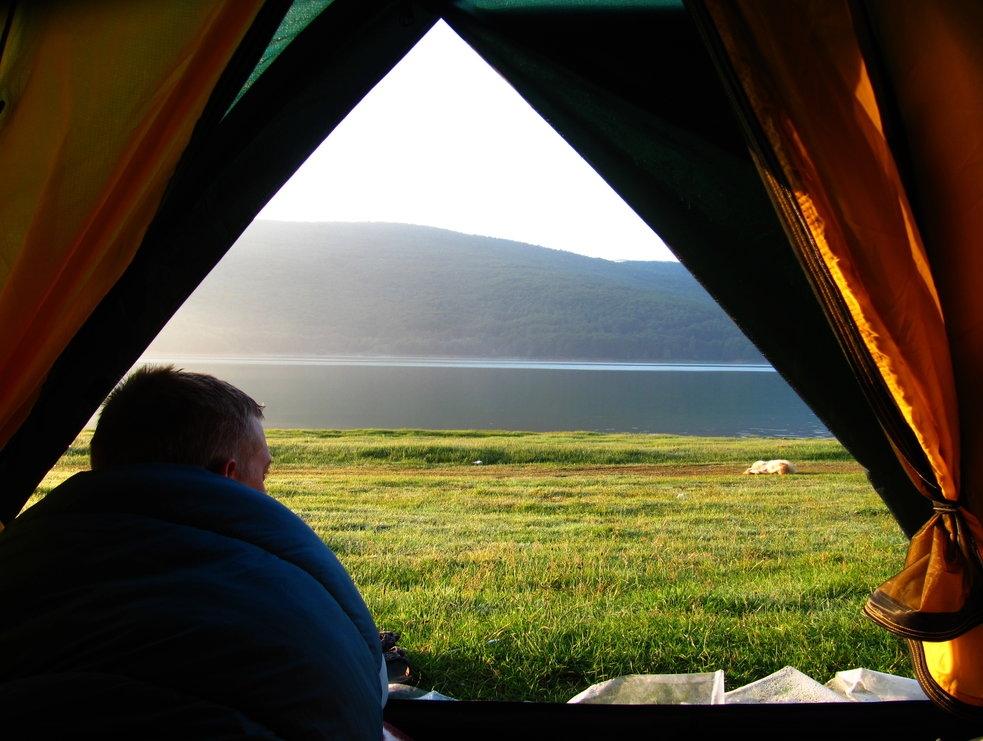 003 - Probuzeni u jezera Mavrovo v Makedonii
