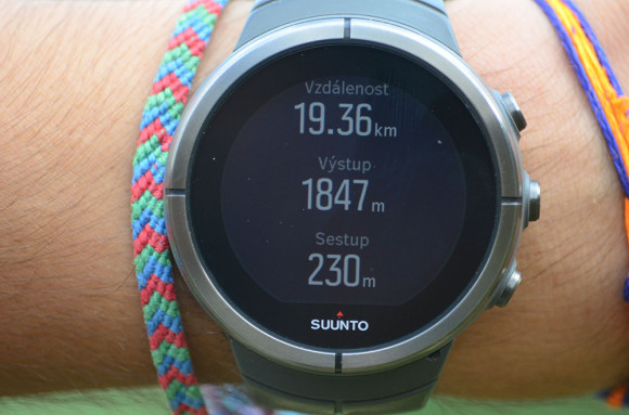 GPS navigace hodnoty trasy