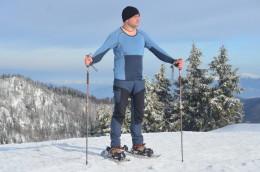 Zimní Velká Fatra, triko Tuvegga teplou stranou dolů. Spodky Tuvegga mám pod kalhotami.